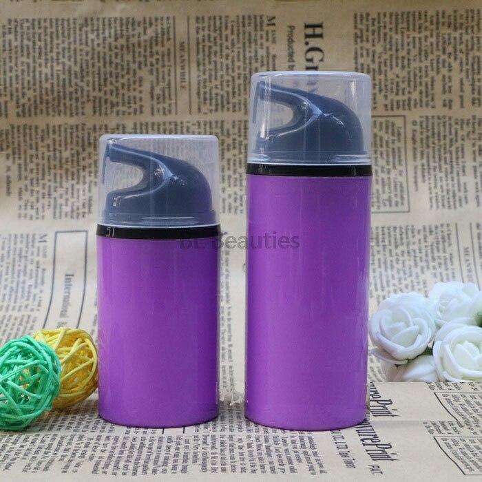 300 unids/lote sin aire vacías botellas de plástico con bomba 50ml 80ml botella de emulsión loción en viajar de embalaje cosmético