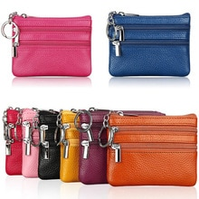 Fashion Leather Women Wallet Clutch One/Two Zip Female Short Small Coin Purse Brand New Design Soft