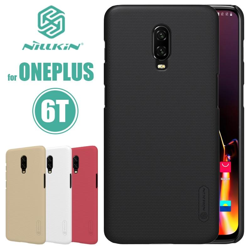 Nillkin – coque rigide givrée pour Oneplus, compatible modèles 6T, 6, 5T, 5, 3, 3T