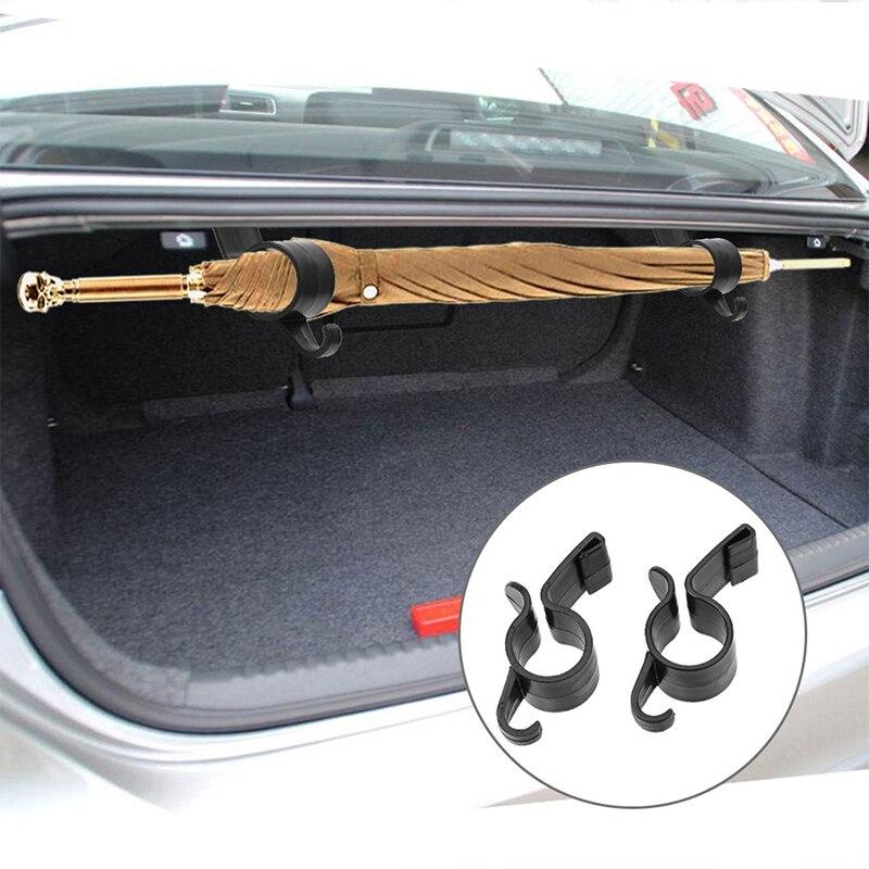 2 teile/satz Regenschirm Halter Auto Organizer Stamm Montage Halterung Hängen Haken für Regenschirm Handtuch Auto Innen Zubehör Kleiderbügel