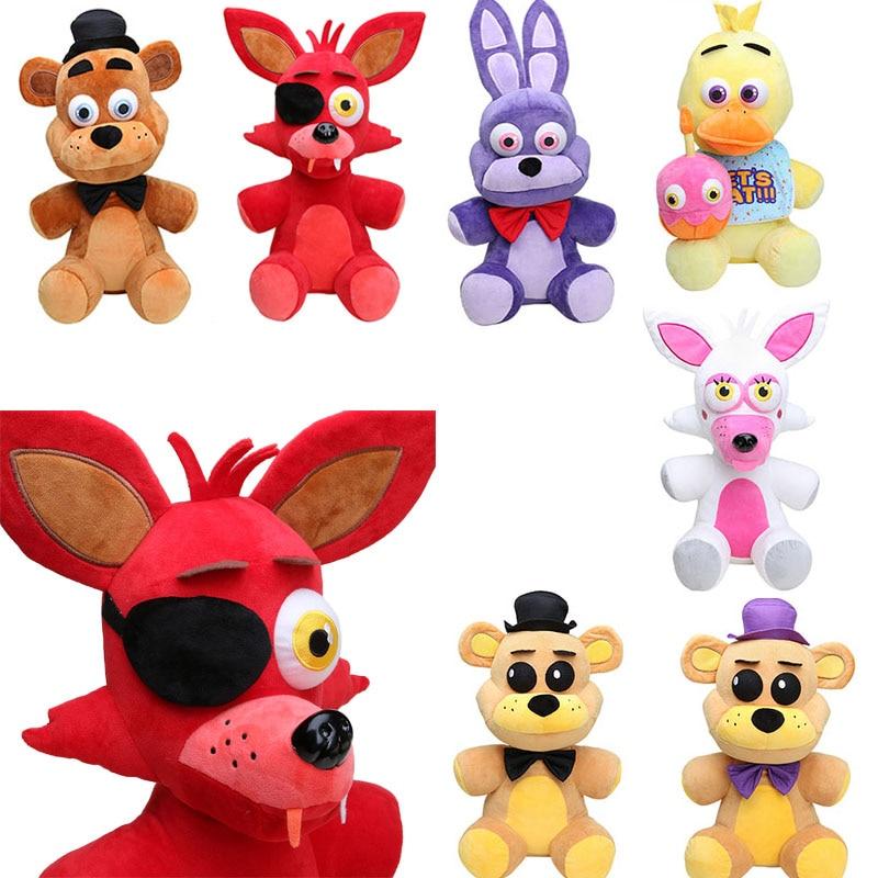 Mangle Foxy 45cm FNAF Five Nights At Freddy's Plush Toy Freddy Fazbear Bonnie Chica Funtime Stuffed Doll Toy juguetes de peluche