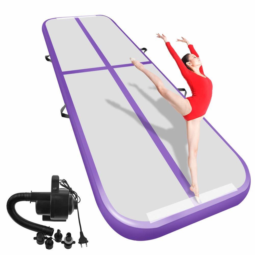 Inflatable Gymnastics Airtrack Tumbling Air Track Floor 6m 5m Trampoline Electric Air Pump Home Use/training/cheerleading/beach