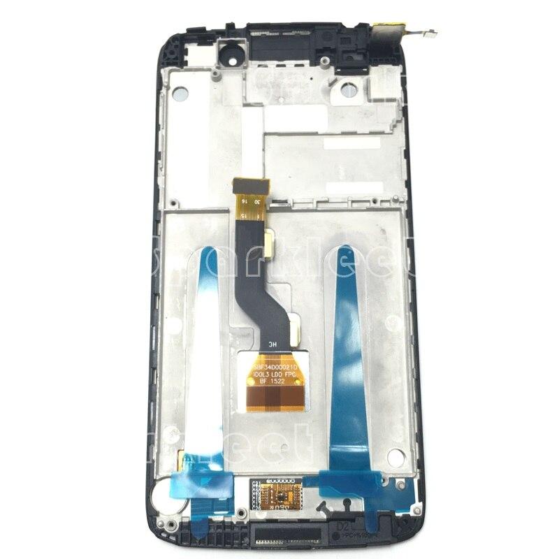 """Pantalla LCD de montaje de digitalizador con pantalla táctil con el marco para Alcatel One Touch Idol 3 4,7 """"6039 6039A 6039K 6039Y 6039J 6039S"""