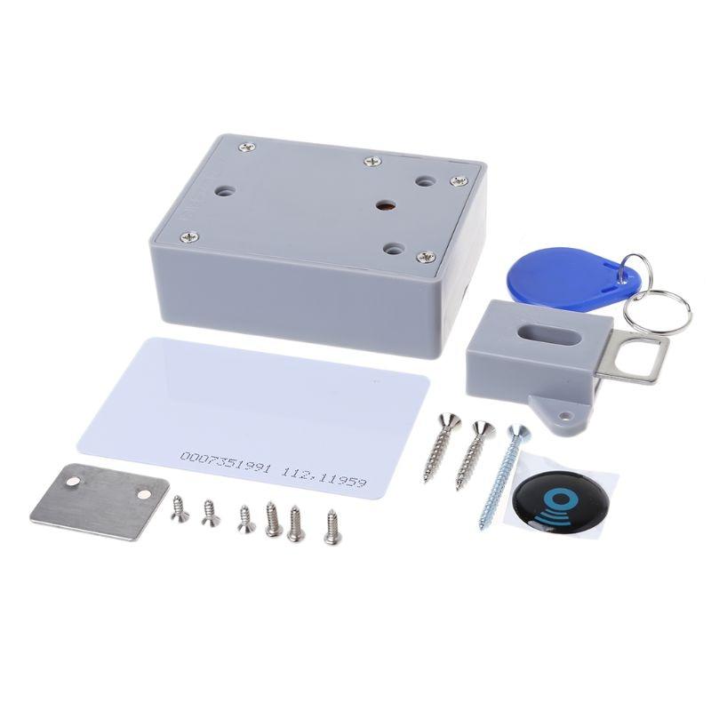 OOTDTY 1 Set IC Card Sensor Digital RFID Lock IDIY Electronic Cabinet Hidden Smart Locks