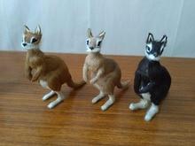 Simulation denviron 12x4x12cm   Polyéthylène et fourres kangourou modèle kangourou, artisanat, cadeau de décoration pour la maison d2012