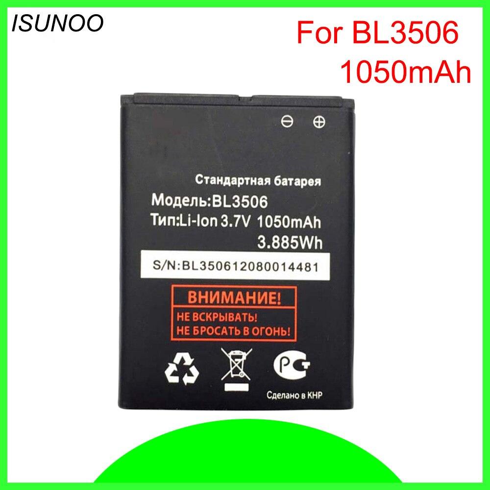 ISUNOO 1050 mAh BL3506 batería para volar BL3506 E154 de la batería del teléfono Baterij batería baterías