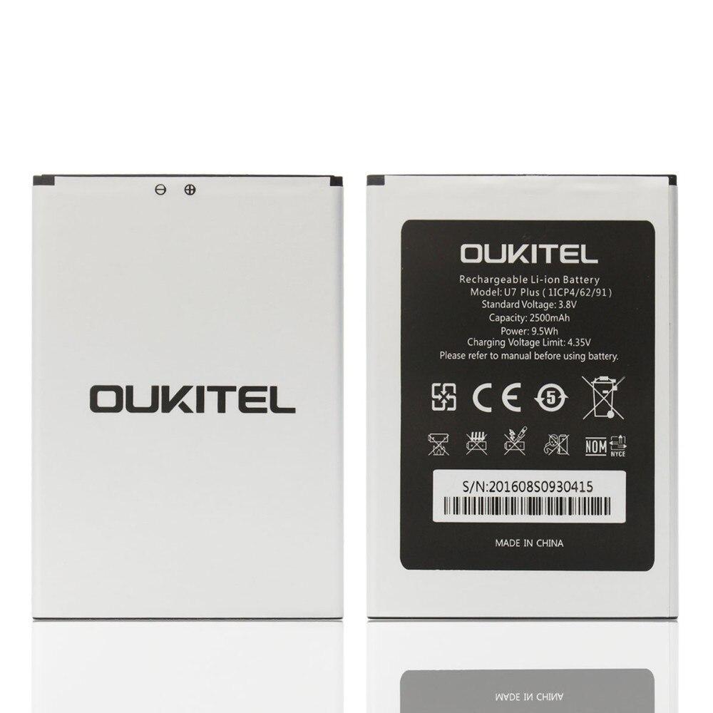 Oukitel U7 PLUS Battery Original 2500mAh Backup Battery Replacement For Oukitel U7 PLUS Mobile Phone