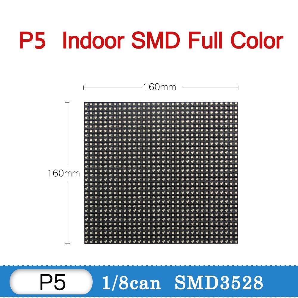 لوحة عرض داخلية P5 Led ، RGB ، لوحة تلفزيون كاملة الألوان ، جدار فيديو P5 ، شاشة حائط Led ، 160 × 160 مم ، 32 × 32 بكسل