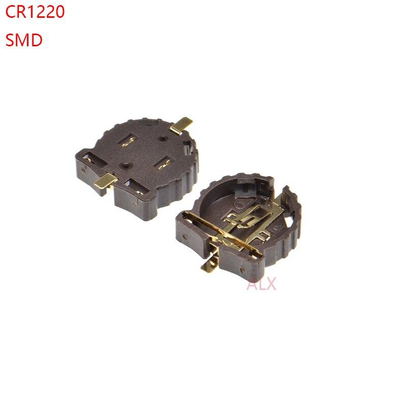 10 шт. SMD SMT CR1220 CR1225 BS-1220-2 3V кнопка батарея гнездо держатель Чехол Коробка