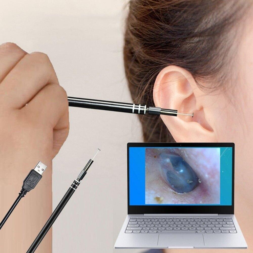 HD Visual Ear Spoon Earpick con Mini cámara pluma cuidado de los oídos en-limpieza de orejas endoscopio USB herramienta de limpieza del oído Kits de aseo