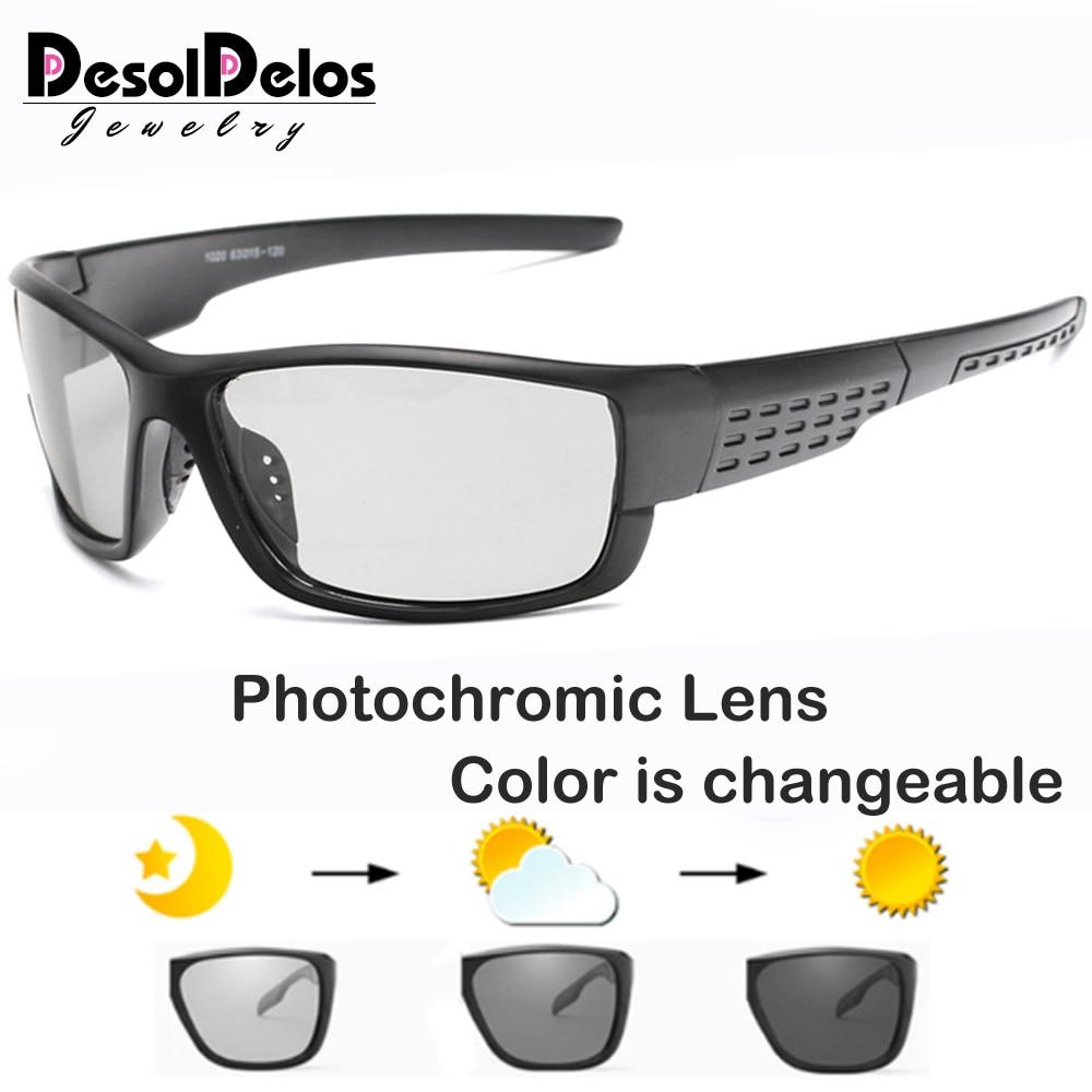 Gafas de sol fotocromáticas cuadradas polarizadas para conducir, gafas de hombre camaleón, gafas de conductor para hombres, gafas de sol para pescar UV400 B1020
