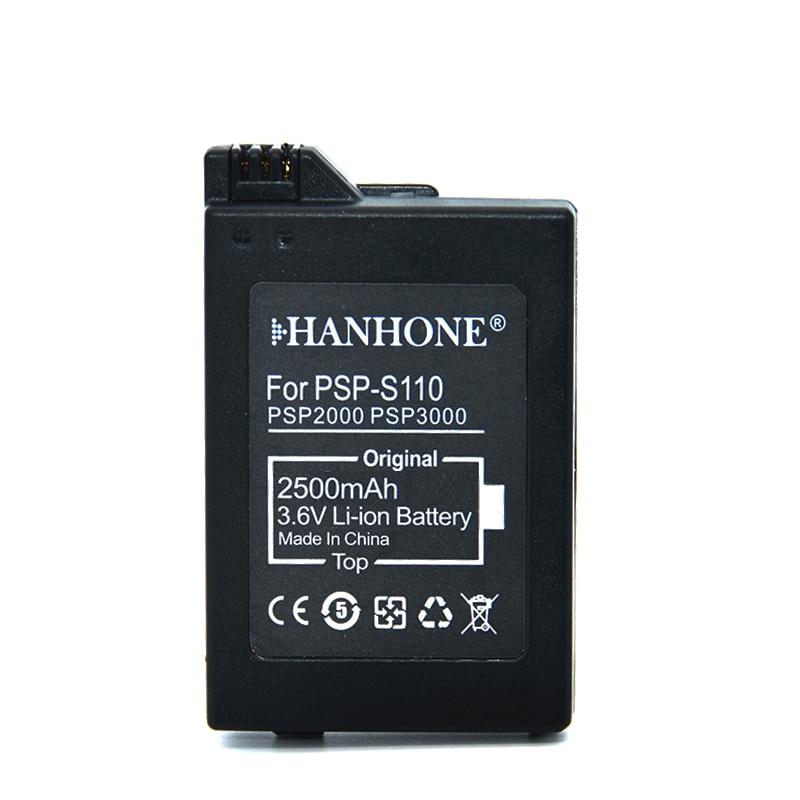 Batería 2500 mAh PSP-S110 para Sony PSP 2000 PSP 3000 PSP2000 PSP3000 batería PSP-2000, PSP-3000, PSP-300 PSP2005 PSP2006 PSP3008