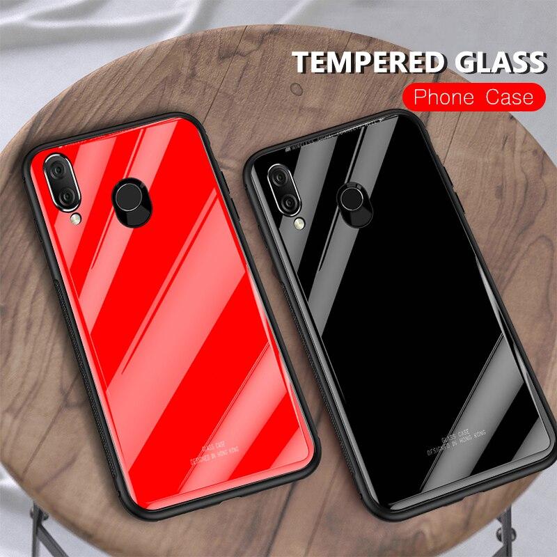 Vidrio Templado funda del teléfono para Huawei Honor 8X10 9 8 Lite Y9 2019 P Smart Plus Nova 3i cubierta protectora 3 TPU armadura de parachoques