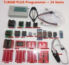 100% ORIGINAL V8.3 TL866II PLUS programmeur + IC clip TSOP48 SOP28 haute vitesse AVR MCU Flash EPROM programmeur remplacer TL866A/CS