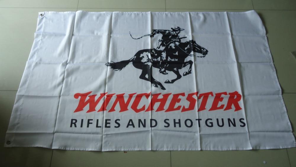 Bandera winchester, envío gratis, bandera winchester, tamaño 90X150CM, poliéster de 100%,