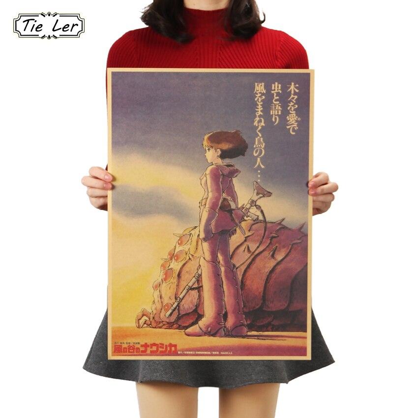 TIE LER Comic винтажные настенные наклейки ретро-постер к фильму крафт-бумага декоративная роспись 51.5x36cm