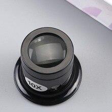 Lupa Monocular portátil de 10X, Lupa de La Lupa, gafas de aumento, reloj, herramientas de reparación de joyería, Lupa de lente negra