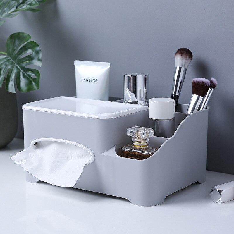Косметический Органайзер, коробка для салфеток, Офисная коробка для хранения, настольный держатель для кистей, органайзер для макияжа, дома...