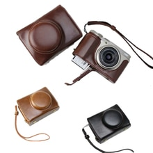 Luxury PU Leather Camera case Bag For FUjifilm XF10 FUJI X-F10 Camera Cover With Strap Black Coffee