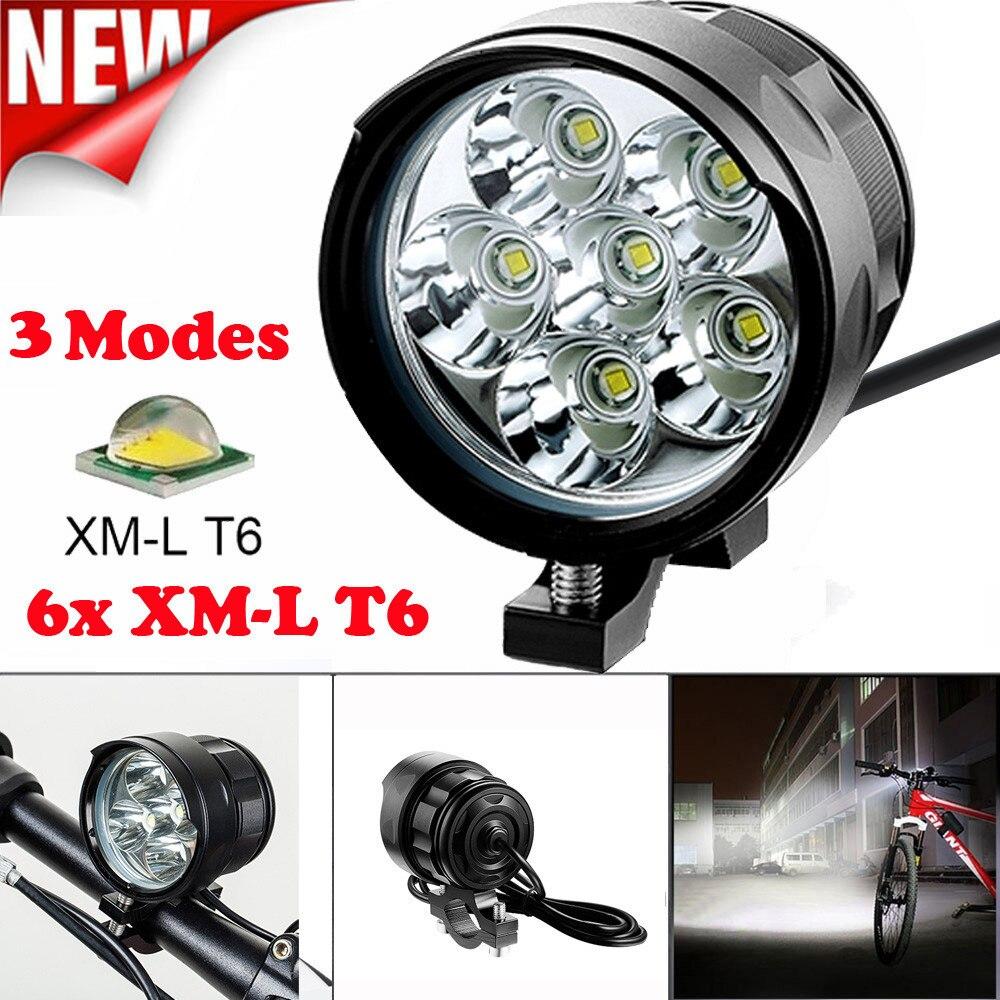 Nuevo 5/6/7/8/9/10/11/12/13/14/15/16x T6 LED 3 modos Luz de bicicleta Faro de bicicleta linterna de ciclismo accesorios al aire libre Proable