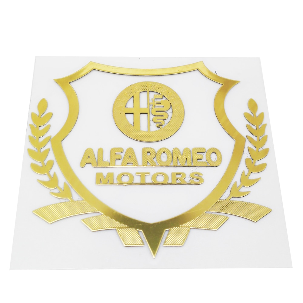 Pegatinas de decoración para ventana, accesorios económicos para automóviles, calcomanía emblema para Alfa Romeo 155 156 159 Mito Giulia GT Brera Spider Giulietta