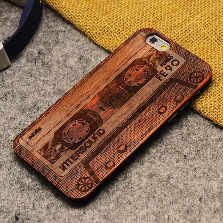 U & i marka cienki luksusowe natural wood telefon case for iphone 5 5s 6 6 s 6 plus 6 s plus 7 7 plus pokrywa drewniane wysokiej jakości, odporna na wstrząsy 17