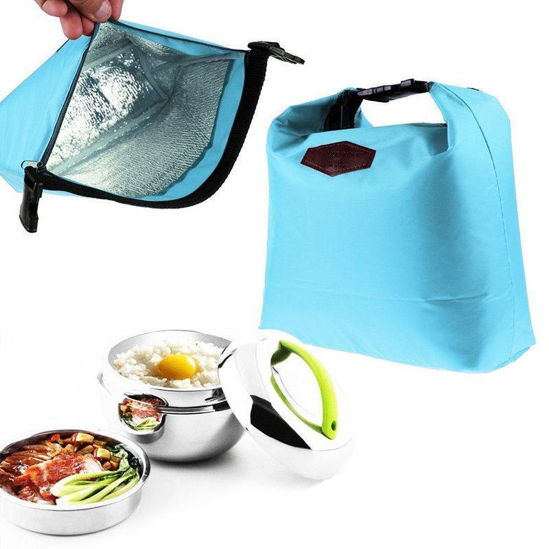 Práctico Simple diseñado impermeable térmico hombro lonchera bolsa de almacenamiento