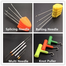 Carpa, pesca, aguja para cebar, aparejo para el pelo, herramienta de fabricación, boilies pop-up, tuerca de Tigre, herramienta para maíz, nudo, tirador, aguja de empalme, cebo