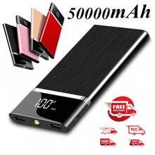 50000mAh Power Bank Ladegerät Externe Batterie Verdrahtete Aufladen Power Für iPhone Samsung Xiaomi Poverbank