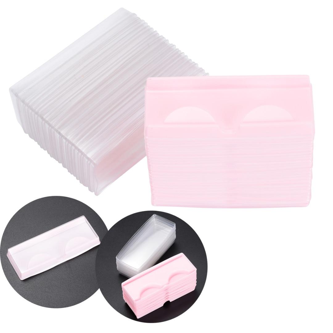 25 sztuk/50 sztuk plastikowe sztuczne rzęsy puste rzęsy pudełka do przechowywania pojemnik kosmetyczne na sztuczne rzęsy
