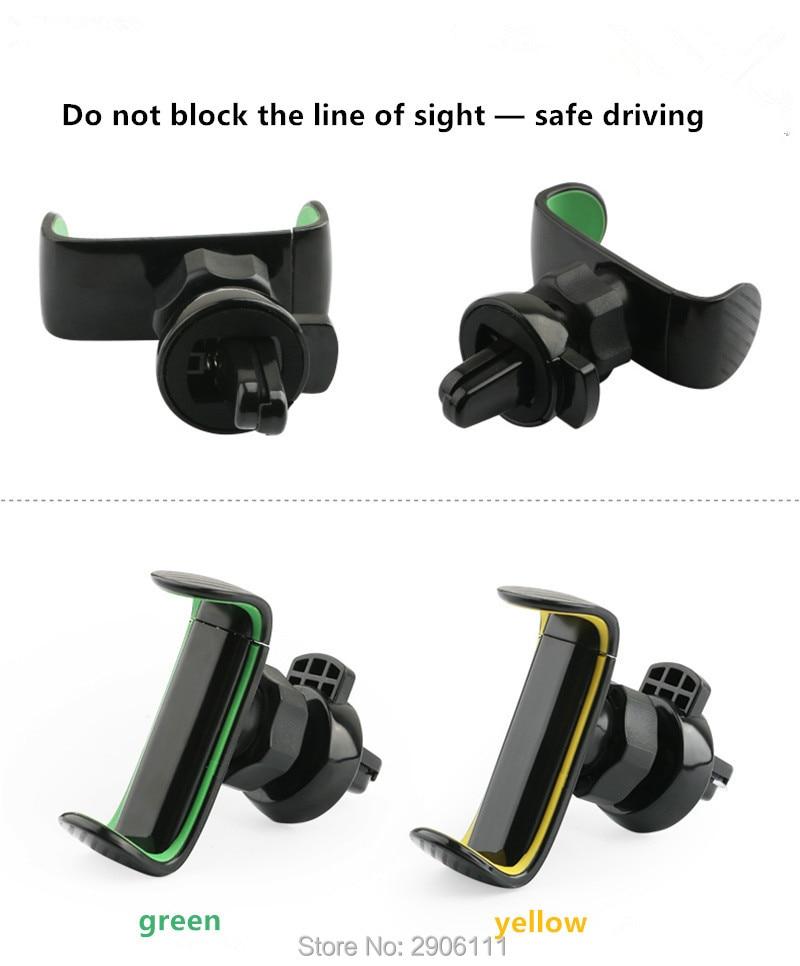 Soporte de teléfono para la rejilla de ventilación de aire soporte de coche soporte de teléfono móvil para Renault clio megane 2 3 captur logan kadjar laguna