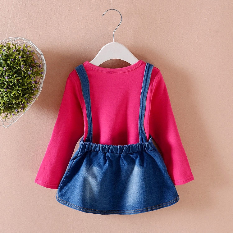2018 Korean children fall new girls' cotton suit for children in children lovely 2 sets of children's clothing wholesale