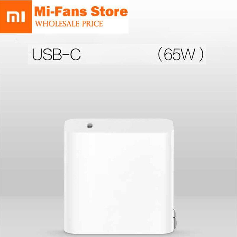 """שיאו mi USB-C 65W מהיר מטען פלט סוג C יציאת USB פ""""ד 2.0 QC 3.0 כוח מתאם עבור mi מחשב נייד אוויר 13.3 MacBookpro mi X 2S טלפון"""