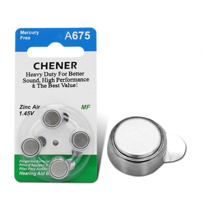 Bateria forte do aparelho auditivo da estabilidade da bateria 700 mah do botão de ar do zinco 40x a675