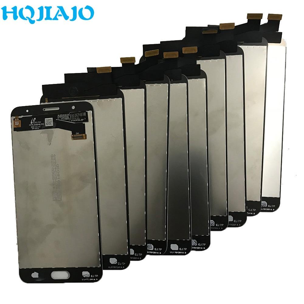 10 جزء/الوحدة الأصلية لسامسونج غالاكسي J7P J7 Prime G610 G610M G610F G610Y LCD عرض تعمل باللمس محول الأرقام الجمعية 5.5''