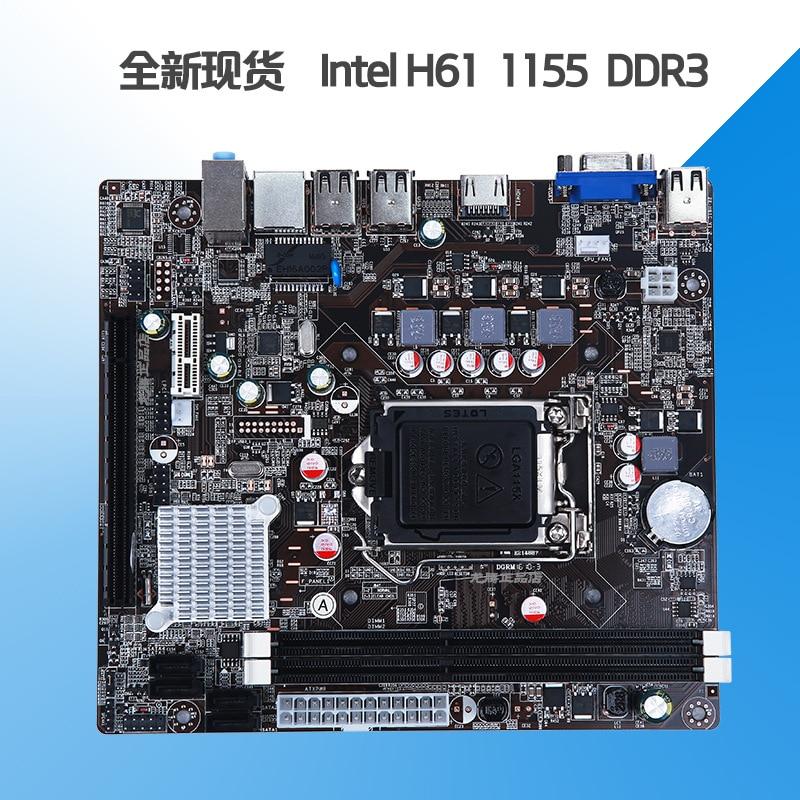 H61 1155 إبرة DDR3 اللوحة يدعم ثنائي النواة/رباعية النواة I3 I5 وغيرها من وحدات المعالجة المركزية