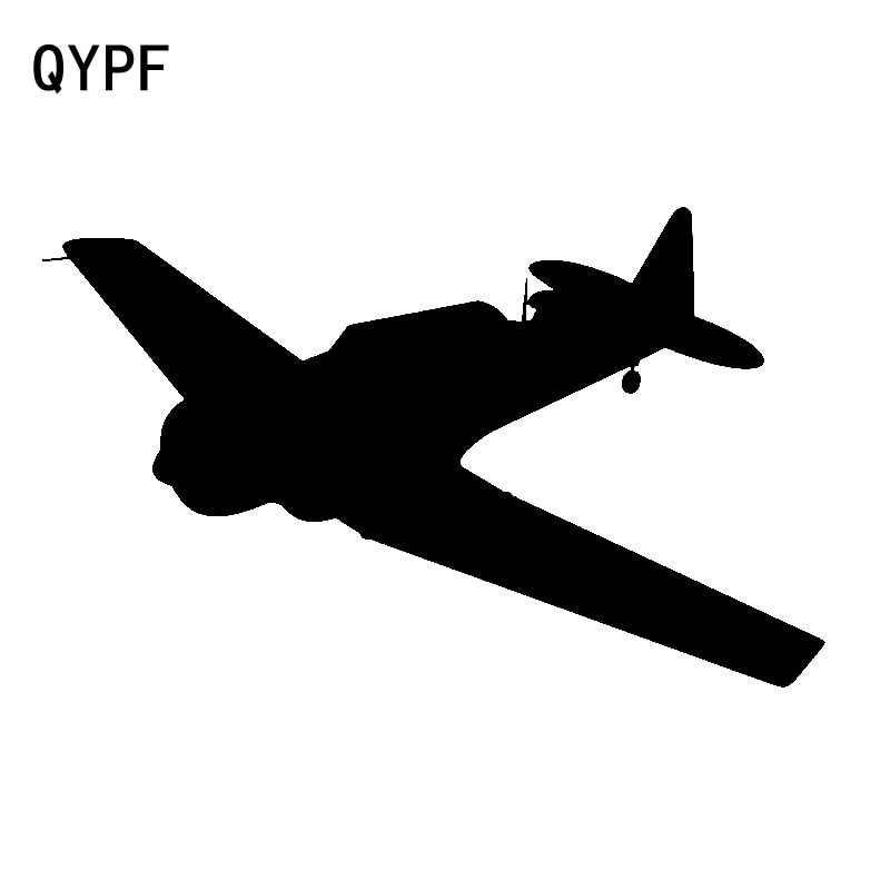 QYPF 17.6cm*10.7cm Exquisite Turns Able To Sit Cabin Plane Durable And Light Vinyl Car Sticker Decal Accessory C18-0801