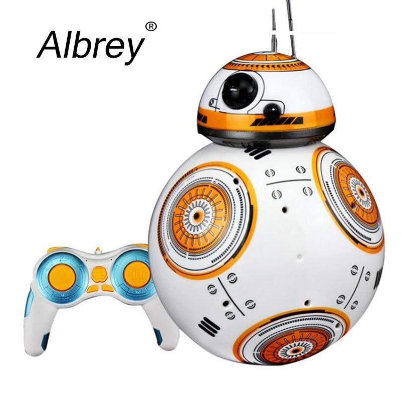 Livraison directe 17cm Star Wars RC 2.4G BB-8 Robot mise à niveau télécommande BB8 Robot Intelligent avec son RC balle enfant cadeau garçon jouet