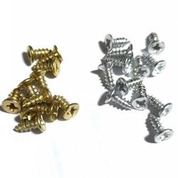 M3 * 6mm 3*8 3*10 3*12 500 pces parafusos prata/bronze/preto espiga mini prego trança caixa dobradiça artesanato de madeira embalagem acessórios