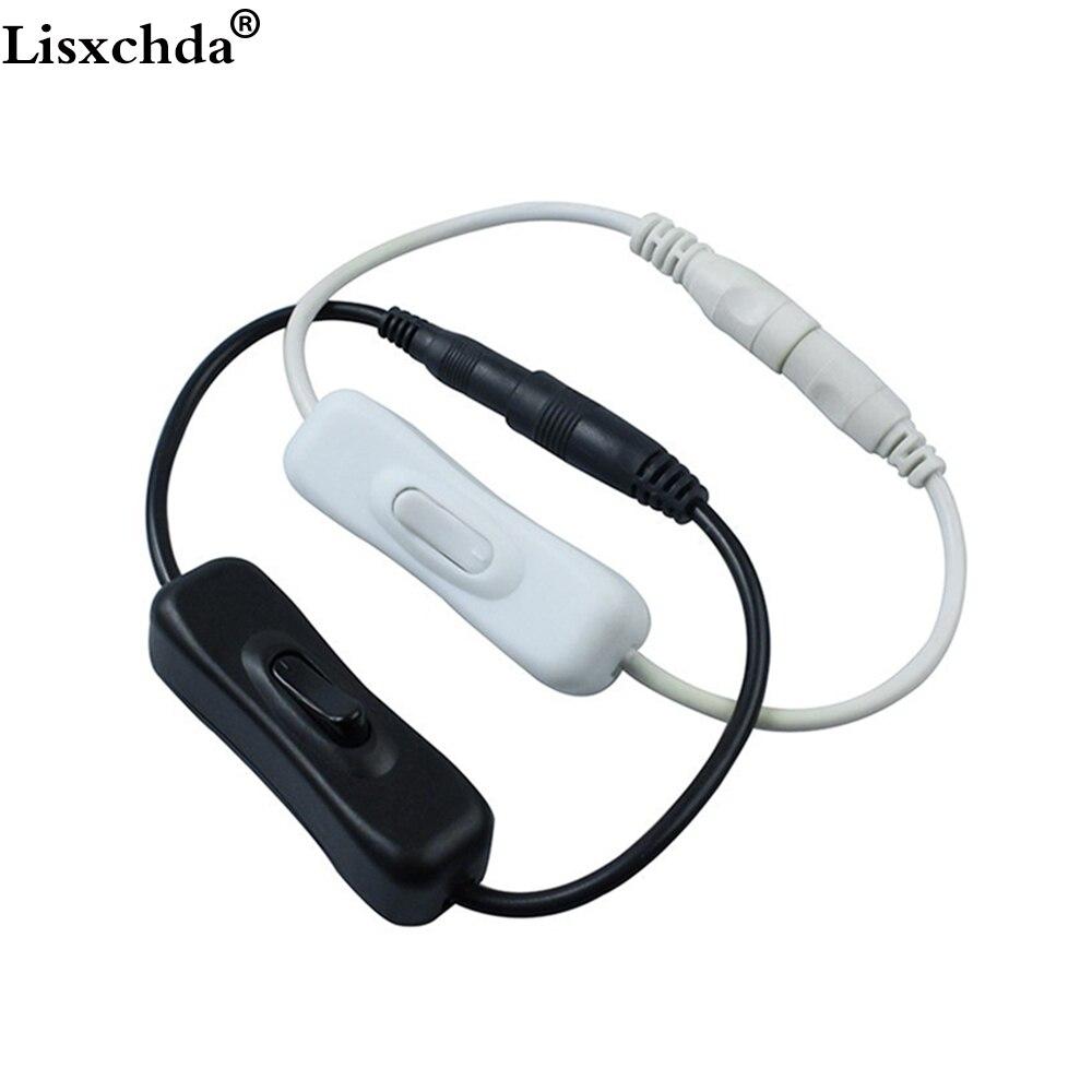Connecteur de câble dalimentation cc In Line   10 pièces 2.1x5.5mm pour câble dalimentation DC, fil avec interrupteur marche-arrêt pour bande arrière 12V 2A