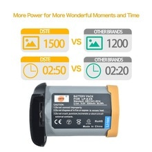 Batterie DSTE LP-E4N/LP-E19 pour Canon EOS 1D X /1D X Mark II / 1Ds Mark III / 1D Mark III / 1D Mark IV