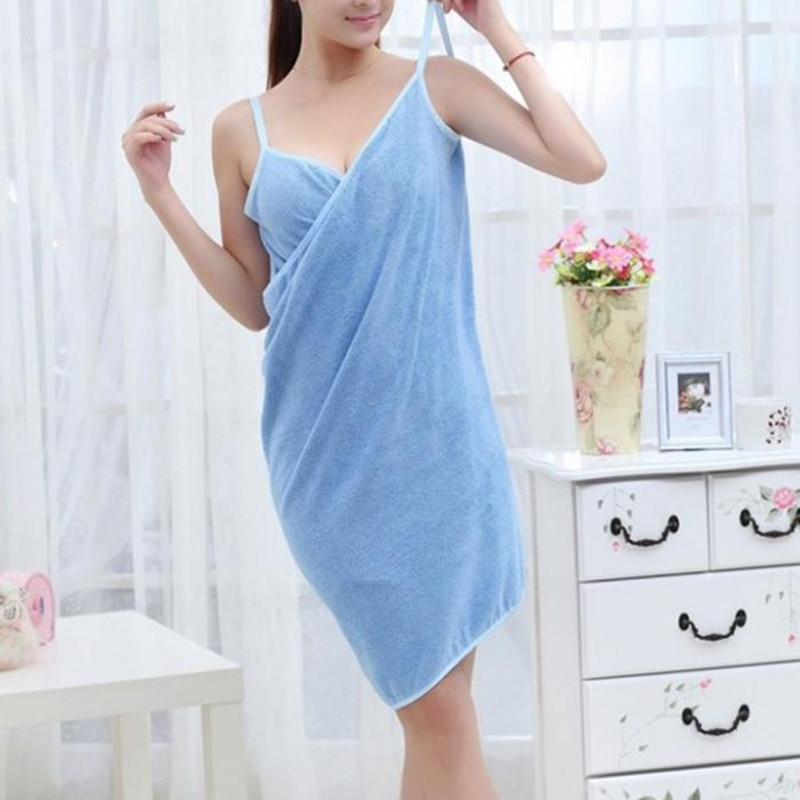 Microfibra de vestir Sexy toalla bata dormir tops de secado rápido de lavado de ropa de las mujeres toallas de baño robe de plage, Vestido de playa,