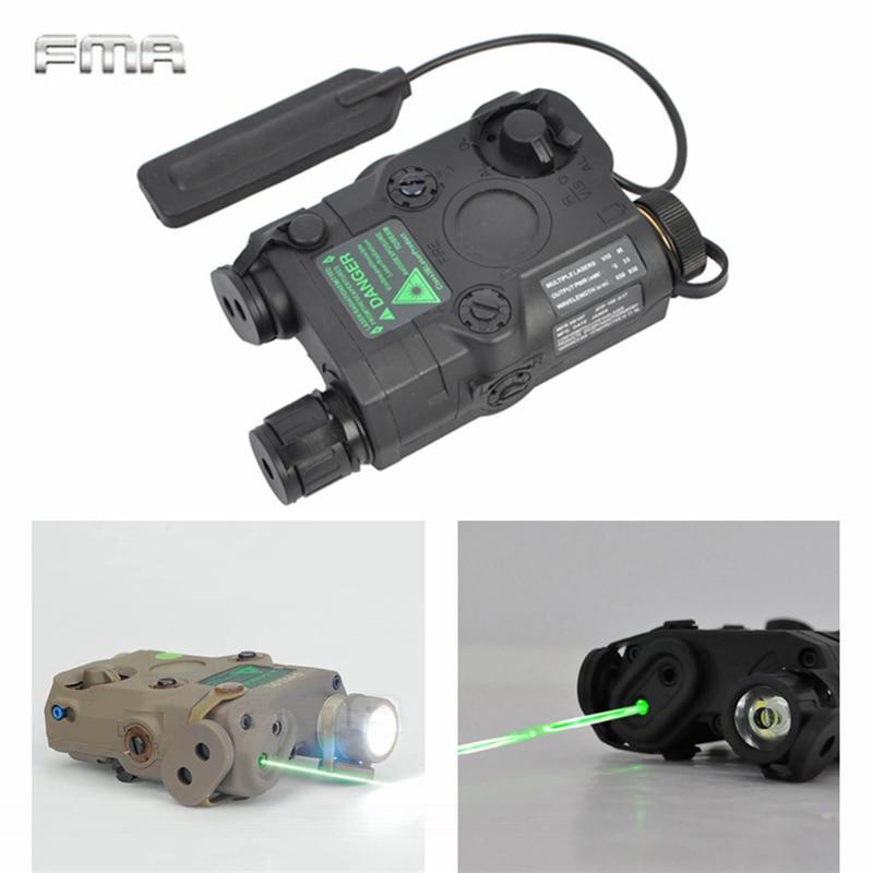 AN/PEQ-15 Green Dot Laser White LED Flashlight 270 Lumens for Standard 20mm rail Night Vision Hunting Rifle Battery Case Element