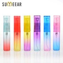 4ML Colorful Glass Mini Portable Perfume Bottle perfume atomizer empty glass perfume bottles For Travel 120Piece/Lot
