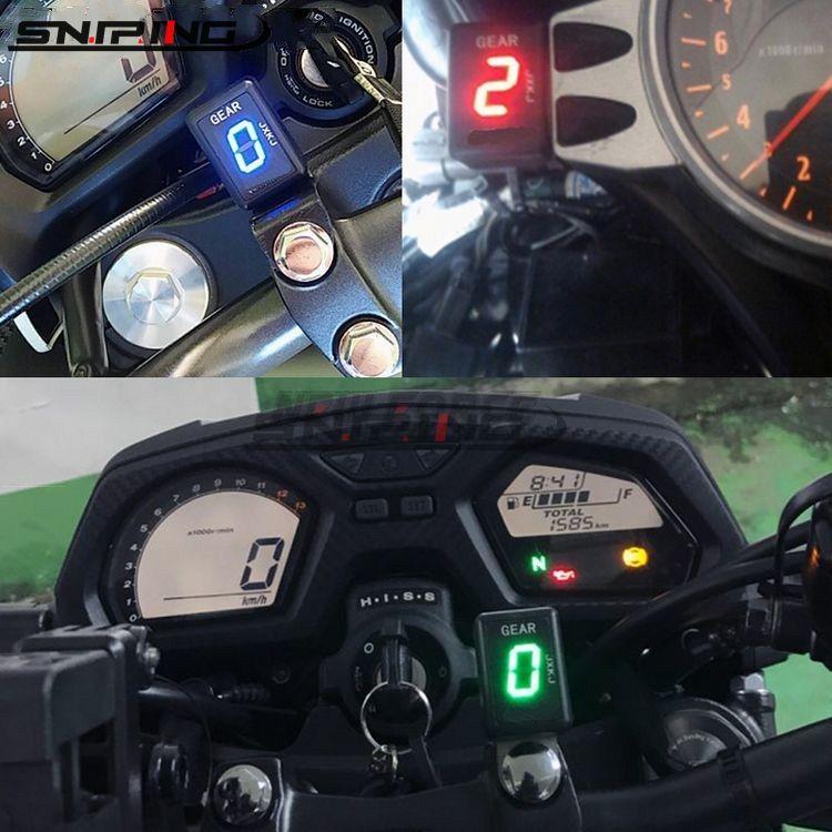 De la motocicleta 1-nivel 6 Indicador de marcha Digital medidor de marchas para Kawasaki ER4F ER4N Vulcano 900 Ninja ZX6RR Z300 rueda dentada Metro