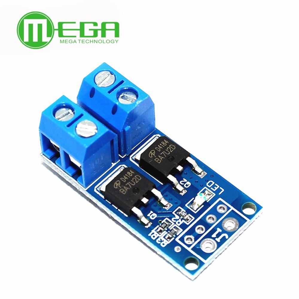 Alta Potencia 15A 400W MOS FET disparador módulo de accionamiento PWM regulador interruptor electrónico Panel de Control cc 5 V-36 V módulo