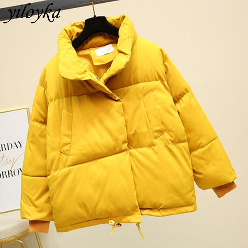 New Winter Jacket Women Parkas Mujer 2019 Autumn Fashion Stand Collar Coat Female Short Jacket Women Parka Warm Casual Overcoat