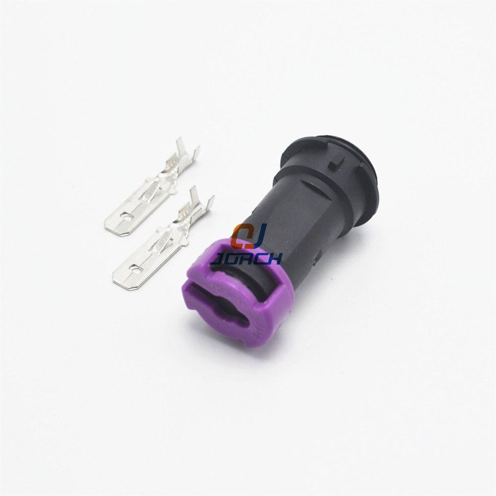 10 conjuntos de 2 pinos 6.3 séries vw round fog lights plugues conector fio fiação macho automático 813 972 926 813972926