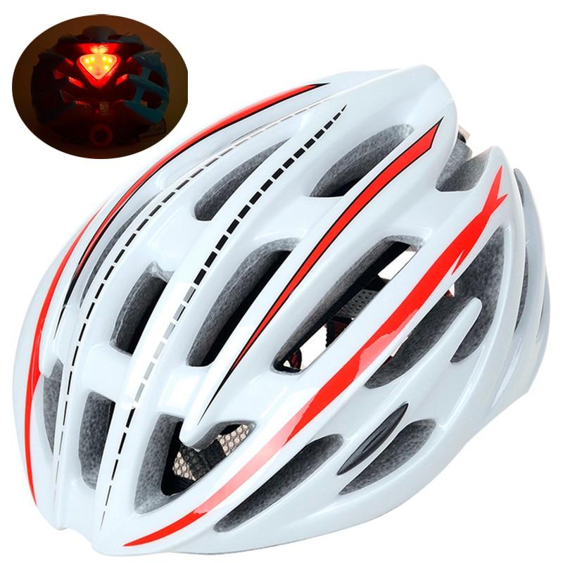 Casco de Ciclismo ultraligero LED, 220g, profesional, para bicicleta de carretera, MTB,...