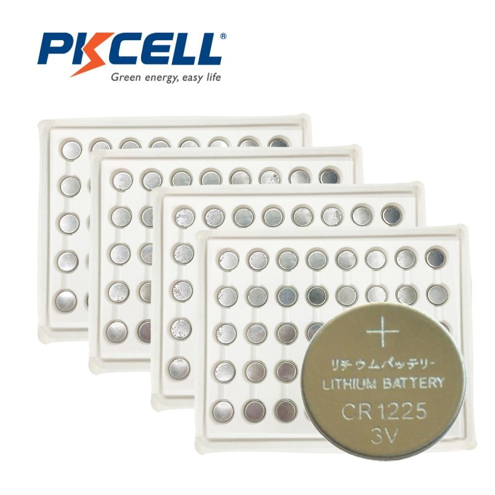 Pilas de botón de batería de litio, 1000 Uds., PKCELL BR1225, EBR1225, CR1225, 3V, EBR 1225